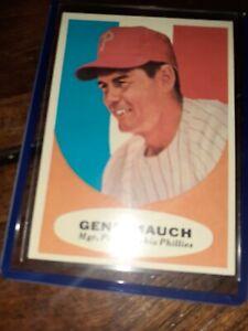 1961-Topps-219-Gene-Mauch-Philadelphia-Phillies-vintage-BASEBALL-near-MINT