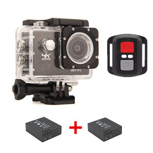 "4K Action Sports camera 1080P HD WiFi 2.0"" Helmet Cam waterproof Mini Camcorder"