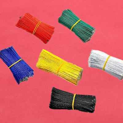 50PCS Tinning PE Wire PE Cable 100MM 10CM Jumper Wire Copper Line Red Black Blue