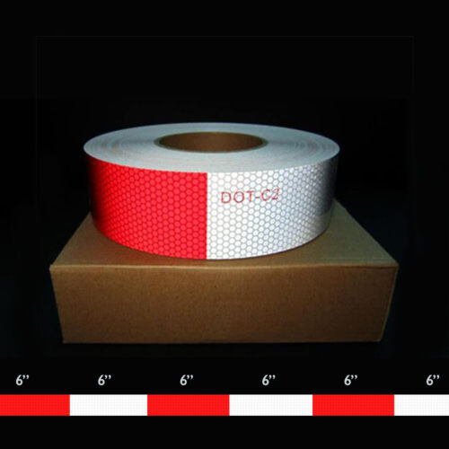 2(48mm) x 150' DOT-C2 Conspicuity Tape  6 x 6 Red [4 ROLL CASE]