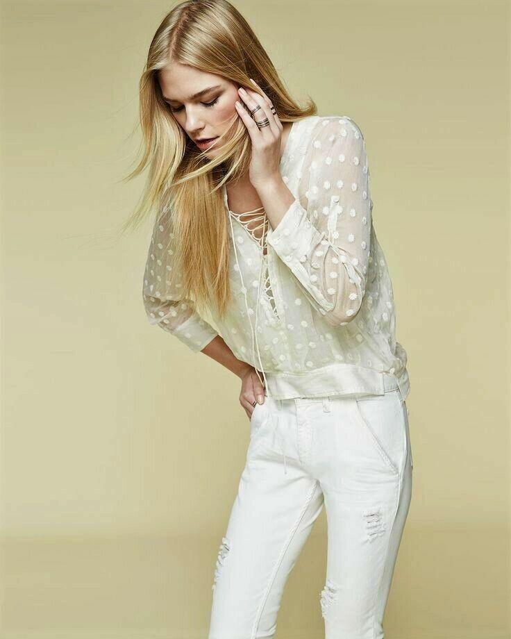 IRO Oltane Sheer Polka Dot Embroiderot Ecru Silk Blouse Lace Up oben 38 US 6