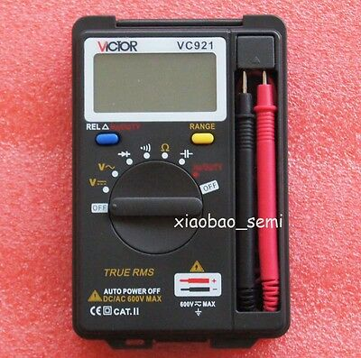 New VICTOR Mini VC921 DMM Integrated Handheld Pocket Digital Frequency Multimete