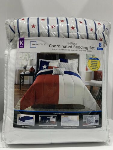 Texas Them 8 Piece King Size Bedding Set New In Bag.. Very Comfy