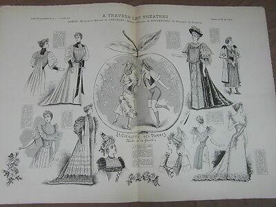 L' ART ET LA MODE - 1892 - No 40 - ILLUSTREE - THEATRE ODEON CHATELET