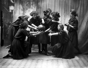 "1907 Girls Basketball, Burke School, Idaho Old Photo 8.5"" x 11"" Reprint"