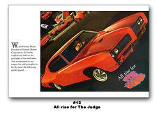 1969 Pontiac GTO The Judge All Rise for HUGE 24x36 Ad Art Print Ram Air