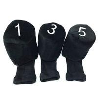 Golf Club Knit Head Covers 1 3 5 Wood Driver Headcover Protective Socks 3pcs/set