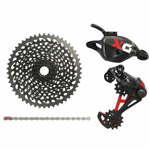 SRAM X01 Eagle 12 Speed Groupset MTB Kit 4 piece , Trigger Shifter , rosso