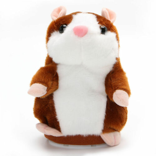 Cute Talking Hamster Nod Mouse Record Chat Mimicry child Plush Toy Gift UK