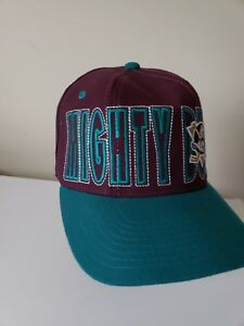 Anaheim-Mighty-Ducks-Starter-Old-Logo-Hockey-Vintage-Fitted-Baseball-Hat-Cap-NHL
