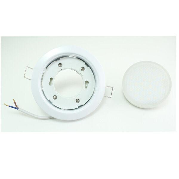 5 x plana 5w 6w LED mantas-instalación emisor instalación instalación emisor luminarias Downlight set gx53 230v c4b5f2
