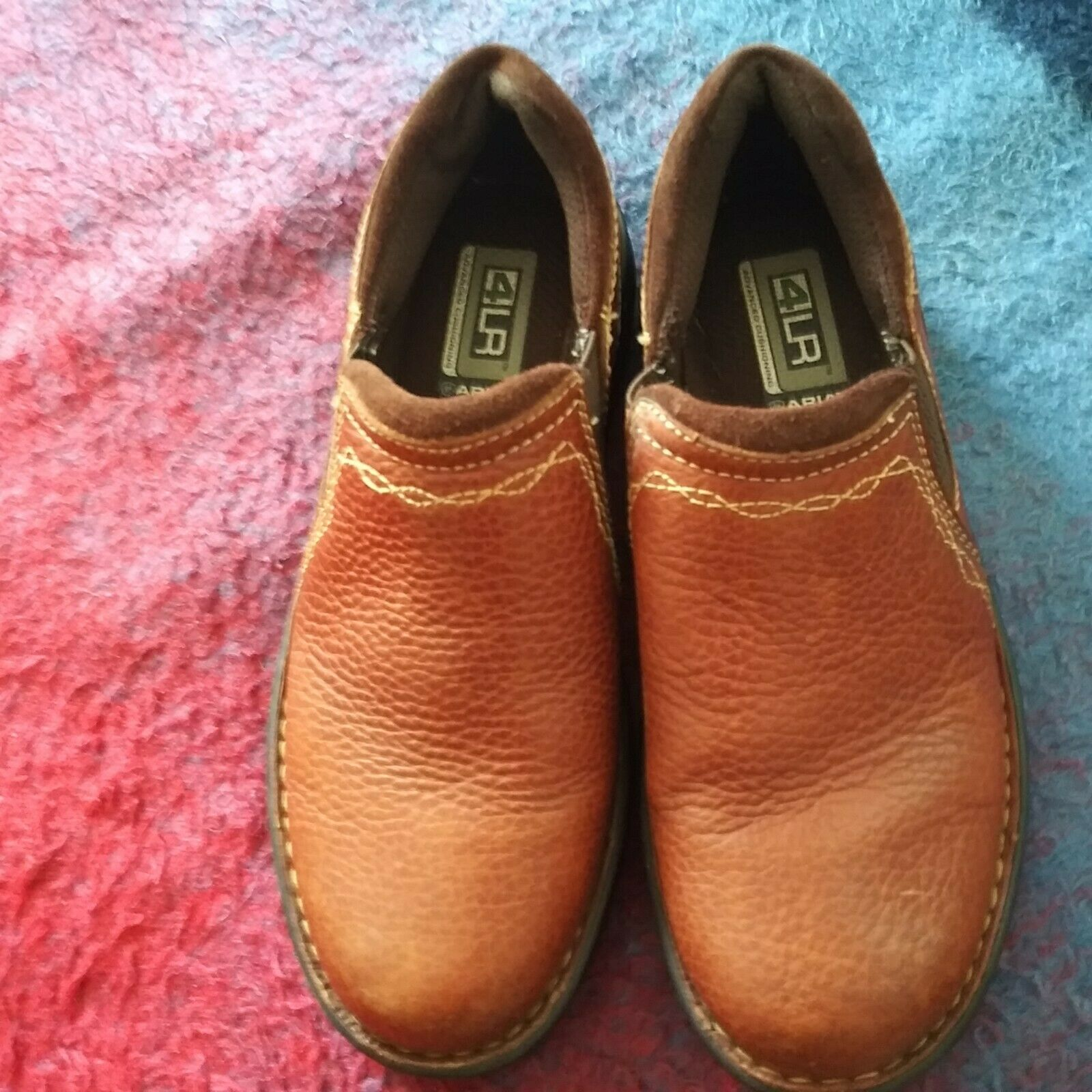 ARIAT LODEN 4LR Pecan Leather Casual Loafers Womens Shoes Size 6 B.