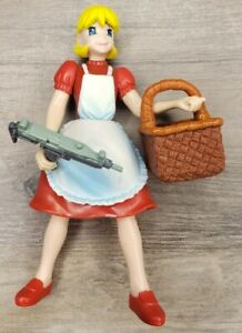 "Darkstalkers 3 Action Figure 4"" Baby Bonnie Hood Toy Biz 1999 Capcom w/ Basket"