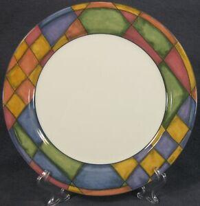 Victoria-amp-Beale-PRISM-9052-Dinner-Plates-Porcelain-Multicolor-Rim
