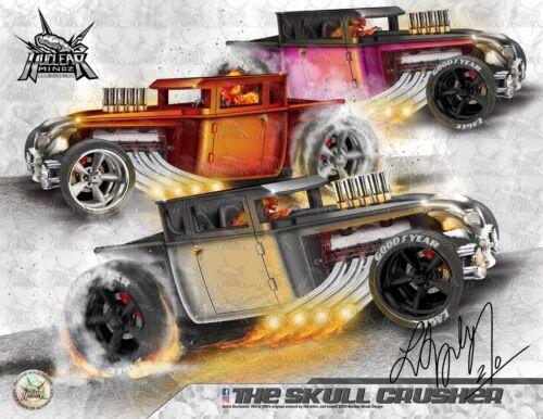 Nuclear Mindz Design Hot Wheels Bone Shakers Esheet Signed Certified /& Laminated