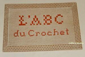 Depliant-L-039-A-B-C-du-CROCHET-par-D-M-C-DOLLFUS-MIEG-amp-Cie-Broderie-Couture