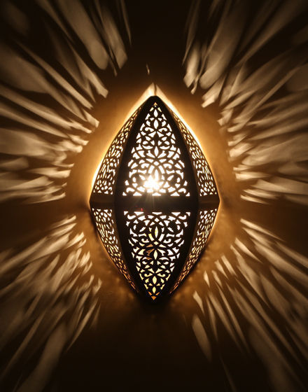 MGoldccan Wall Light Brass Antique Lamp Copper Sconce Engraved Style Sconce