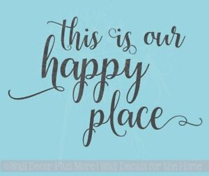 This Is Our Happy Place Vinyl Lettering Quotes Inspirational Wall