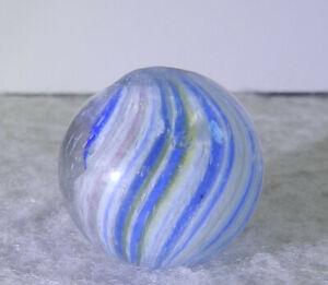 #11310m Vintage German Handmade Slightly Shrunken Onionskin Marble .70 Inches