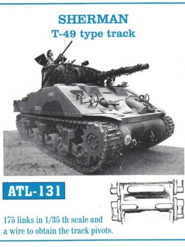 FRIULMODEL METAL TRACKS SHERMAN T49 TYPE TRACK Scala 1//35 Cod.ATL-131