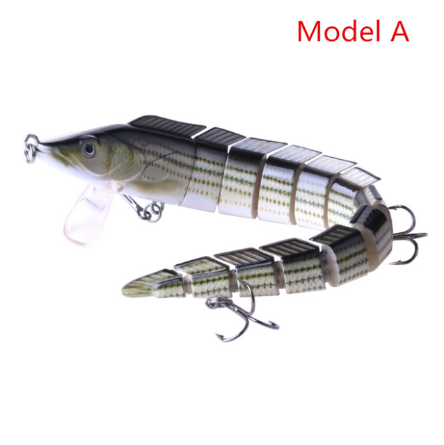 Lunker Lure Brush Tail 2 ounce 2 section 6 inch Bass 3D Bluegill swimbait