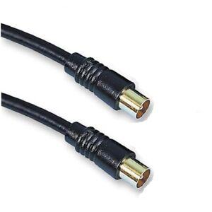 Antena-Coaxial-RF-Fly-plomo-1-M-TV-por-cable-macho-a-M-Blindado-RG59-Gama-Premium