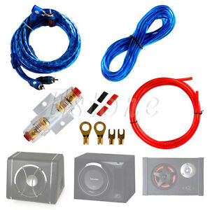 details about new 1500w car audio subwoofer sub amplifier amp rca wiring kit cable fuse rh ebay com