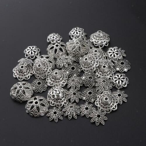 60g Viele Charms Anhänger Stecker Blumen Perlen Kappe für DIY