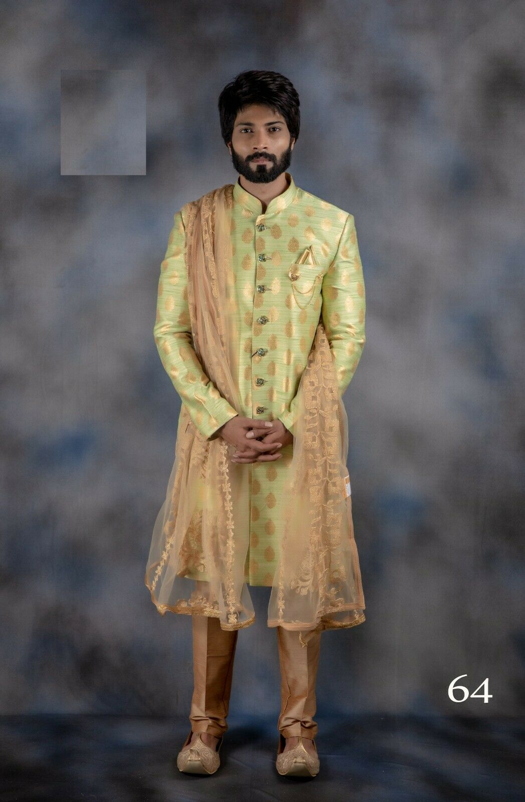New Indian Traditional Sherwani For Groom Bollywood Style Indo Western For Men R