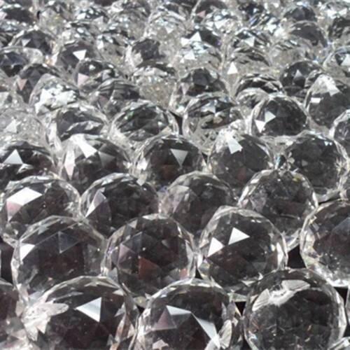 30mm Glass Faceted Crystal Ball Chandelier Hanging Pendant DIY Lighting Decor