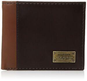 Tommy-Hilfiger-Men-039-s-Leather-Credit-Card-ID-Wallet-Billfold-Brown-31TL22X047