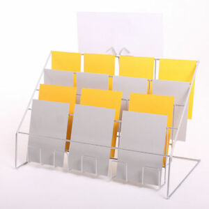 Details About Wire Counter Leaflet Rack For Mixed Size Greeting Cards Display Stand Rack Uk
