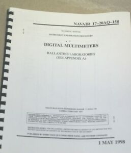 Details about Ballantine Labs multimeters Instrument Calibration Procedure  Technical Manual