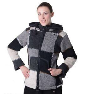 Nepal Und Lined Pointed Wool Details Winter Cardigan About Ladies Kunst Magie Hood Fleece iwOkPXZuT