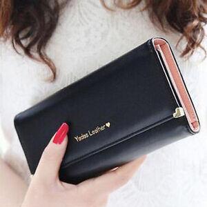Damen-Geldboerse-Portemonnaie-Geldbeutel-Portmonee-Lang-Brieftasche-Mode-TOP