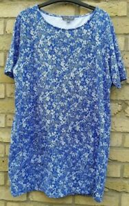 Immaculate-Laura-Ashley-100-Cotton-Blue-Floral-printed-Tunic-Dress-Pockets-18