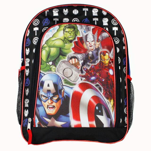 Blue /& Red Marvel Avengers Captain America Thor Iron Man Boys Backpack