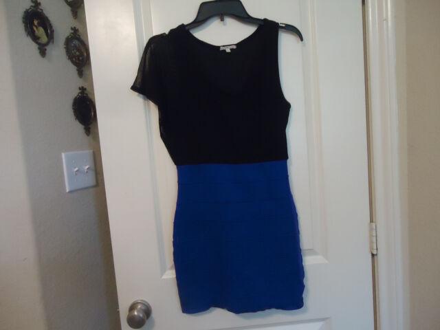 6273aed6ec7 Charlotte Russe Size M Sleeveless w  Netting On One Shoulder Dress Black  Purple