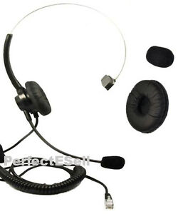 Office-Home-Telephone-Headset-With-RJ-MOdular-Plug-for-AT-amp-T-GE-Phone-Cushion