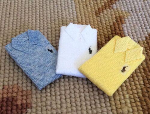 Pat Tyler Dollhouse Miniature Polo Folded Shirt Apparel Garment Clothing p757