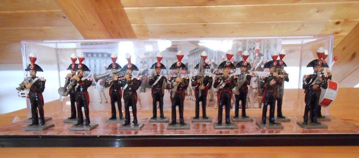 Soldatini Piombo - Banda Carabinieri  Cassandra  15 pezzi cm. 5,4
