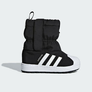 f8e36803ce52c Details about Adidas B22502 toddler Superstar Winter 3R CF baby shoes black  white kids