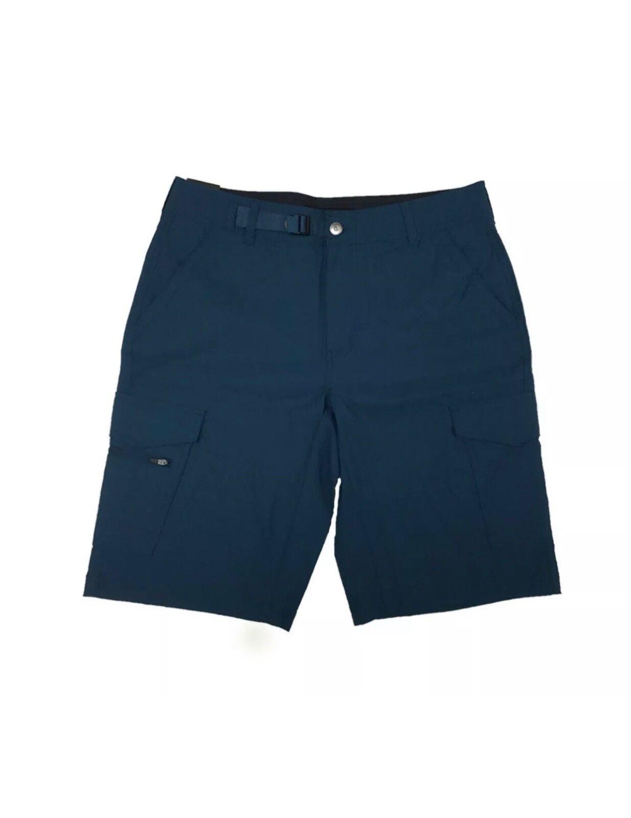 !!! nuevo!!! BC Clothing para hombre Pantalones cortos estilo cargo de estiramiento de expedición verde azulado 32 (EE092)