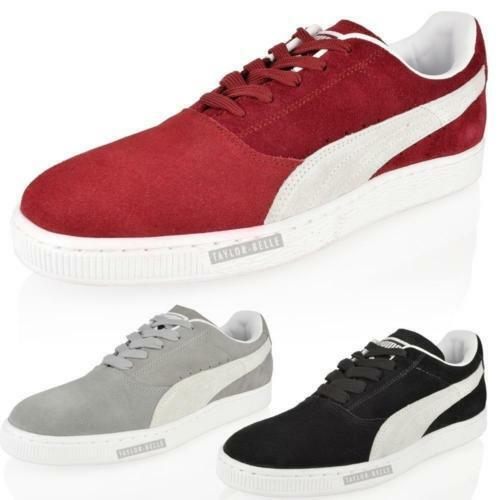MENS BOYS PUMA SUEDE CLASSIC CASUAL SPORTS TRAINERS LACE UP SIZE