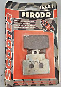 150 CC 1999-2004 POSTERIORI COPPIA PASTIGLIE ORGANICHE FERODO COMPATIBILE CON APRILIA/LEONARDO