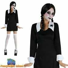 Wednesday Addams Scary Daughter Doll Halloween Ladies Fancy Dress UK 8 10 12