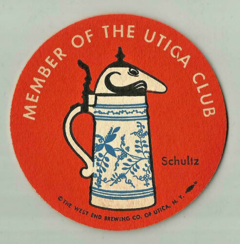 12 Utica Club Schultz /& Dooley  Beer Coasters 2 designs 6 of each