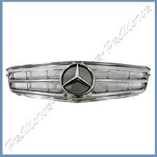 Fit 12-14 M BENZ W204 C300 C350 C250 Sedan OE Look All Chrome Fins Front Grille