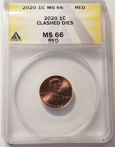 2020 LINCOLN CENT-MINT ERROR-CLASHED DIES MS66 RED