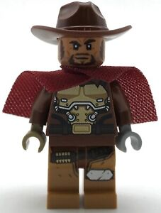 Hair new LEGO Overwatch Minifig Outlaw Gunslinger McCree with Hat and Pistol